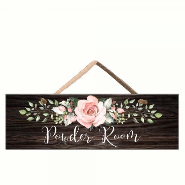 blush pink roses sign