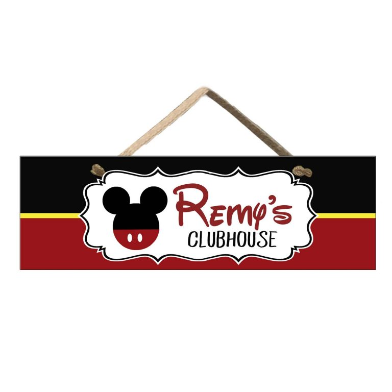 Mickey Clubhouse Sign