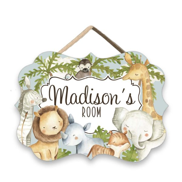 Safari Animals Door Sign