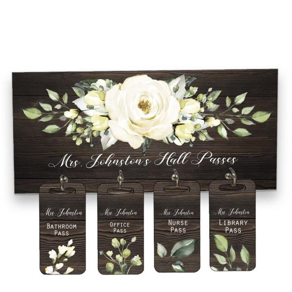white roses hall pass hanger