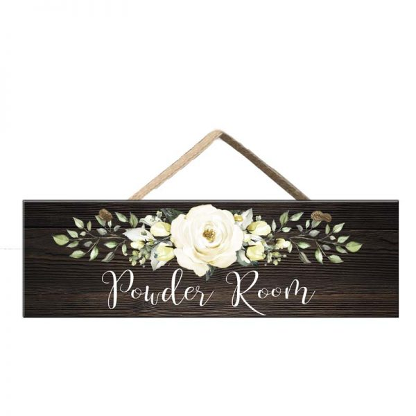 Faux wood sign