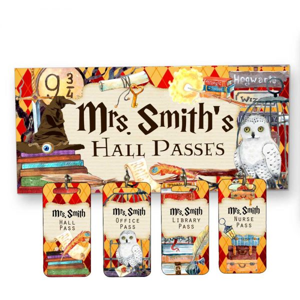 Magical Theme Hall Passes