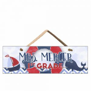 nautical classroom door sign