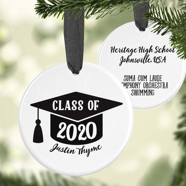 Graduation Christmas Ornament 2020 Graduation Ornament   Personalized   Doodle Pad Designs