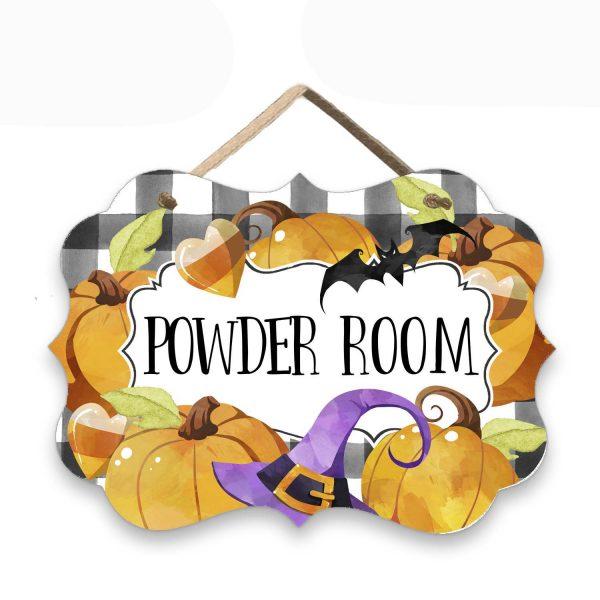 Halloween Powder room sign