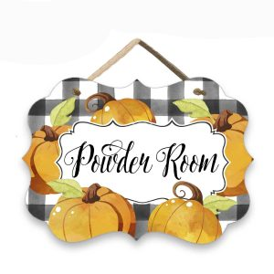 Pumpkin Powder Room Sign