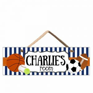 Kids Sports Door Sign