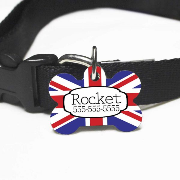 British Flag Dog Tag