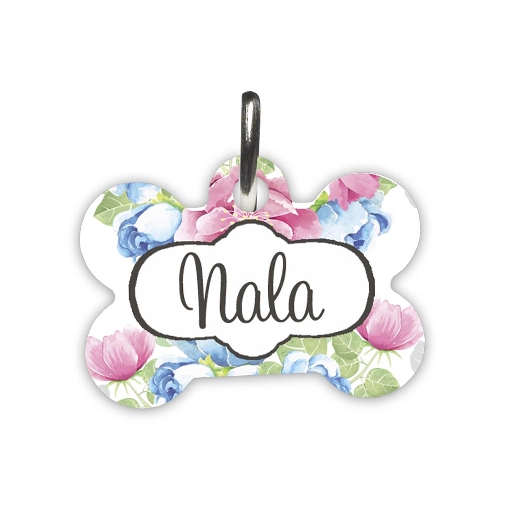 Floral-Pet-id-tag