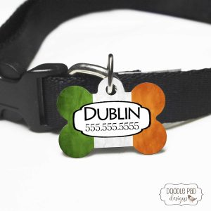 Irish theme pet id tag