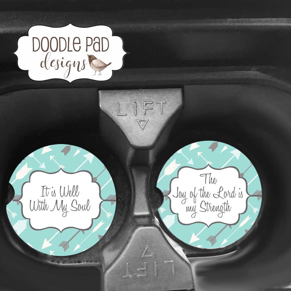 scripture car coasters