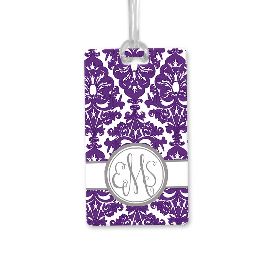 Damask-monogram-bag-tag