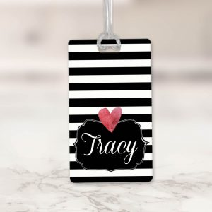Black Striped Bag Tag