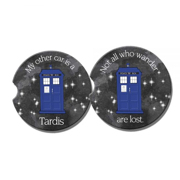 dr who car coasters