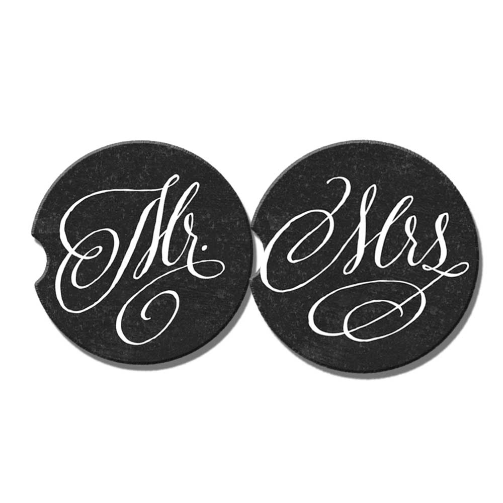 mr and mrs car coasters