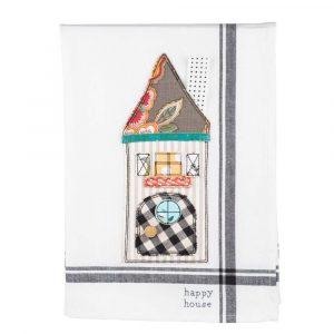 Happy house tea towel