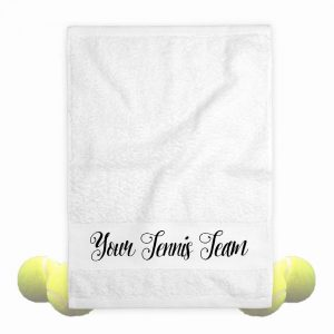 team tennis towel