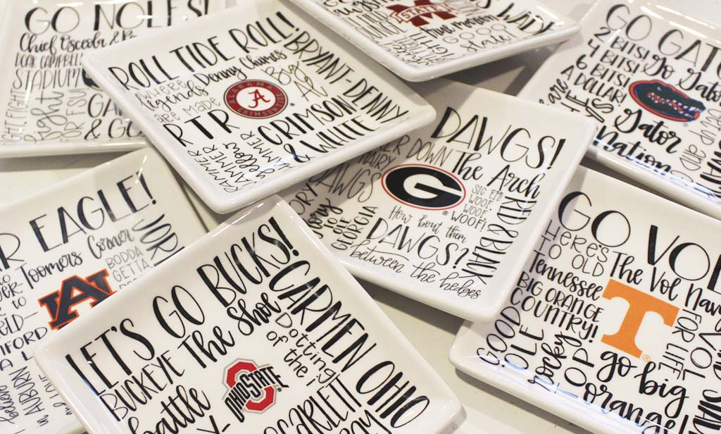 collegiate jewelry trays