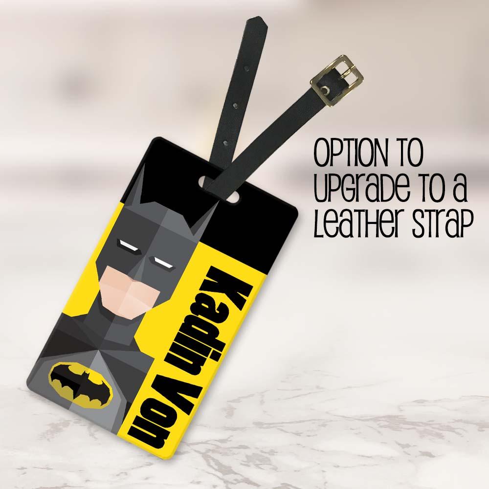 batman tag with strap