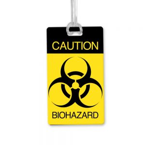 bio hazard luggage tag