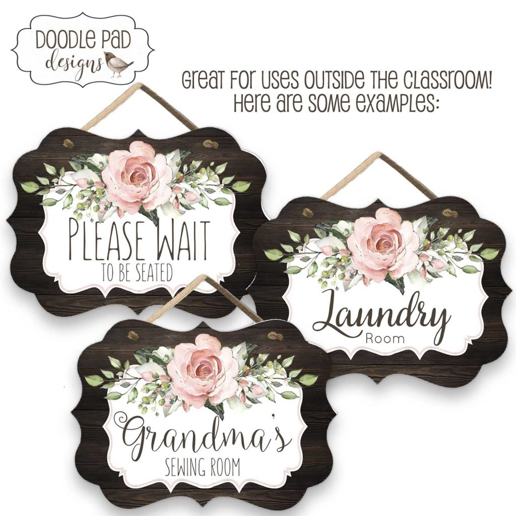 farmhouse roses door sign