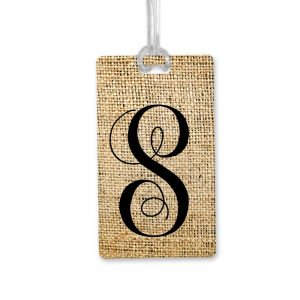 monogram bag tag