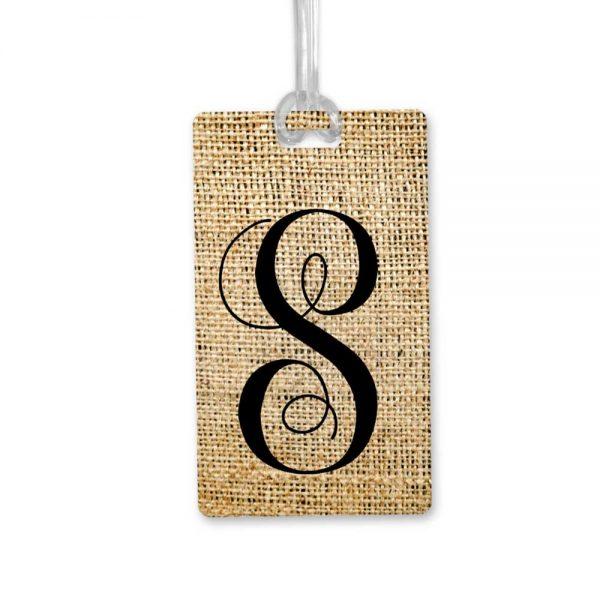monogram bag tag