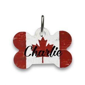 canadian flag dog tag