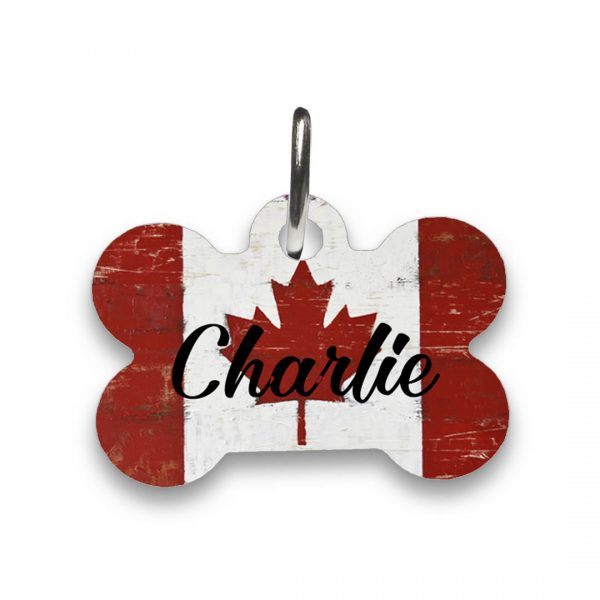 canadian flag dog tag