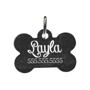 black dog Id Tag