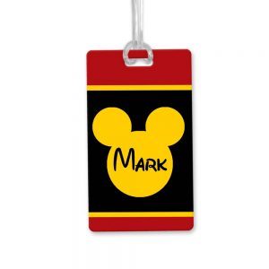 men's disney bag tag