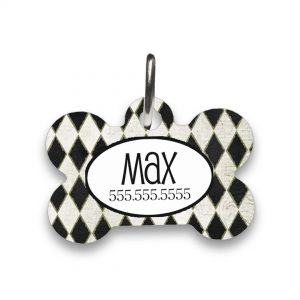 Harlequin pet id tag