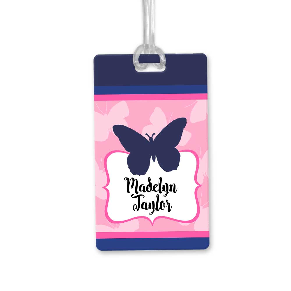 Navy-butterfly-bag-tag