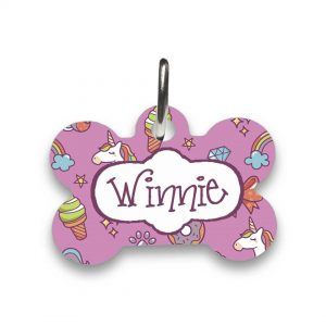 unicorn pet id tag