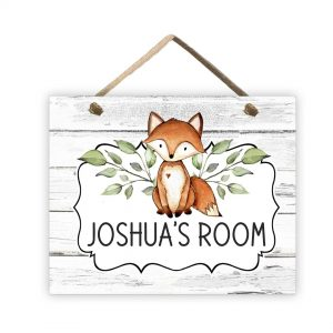 woodland nursery sign