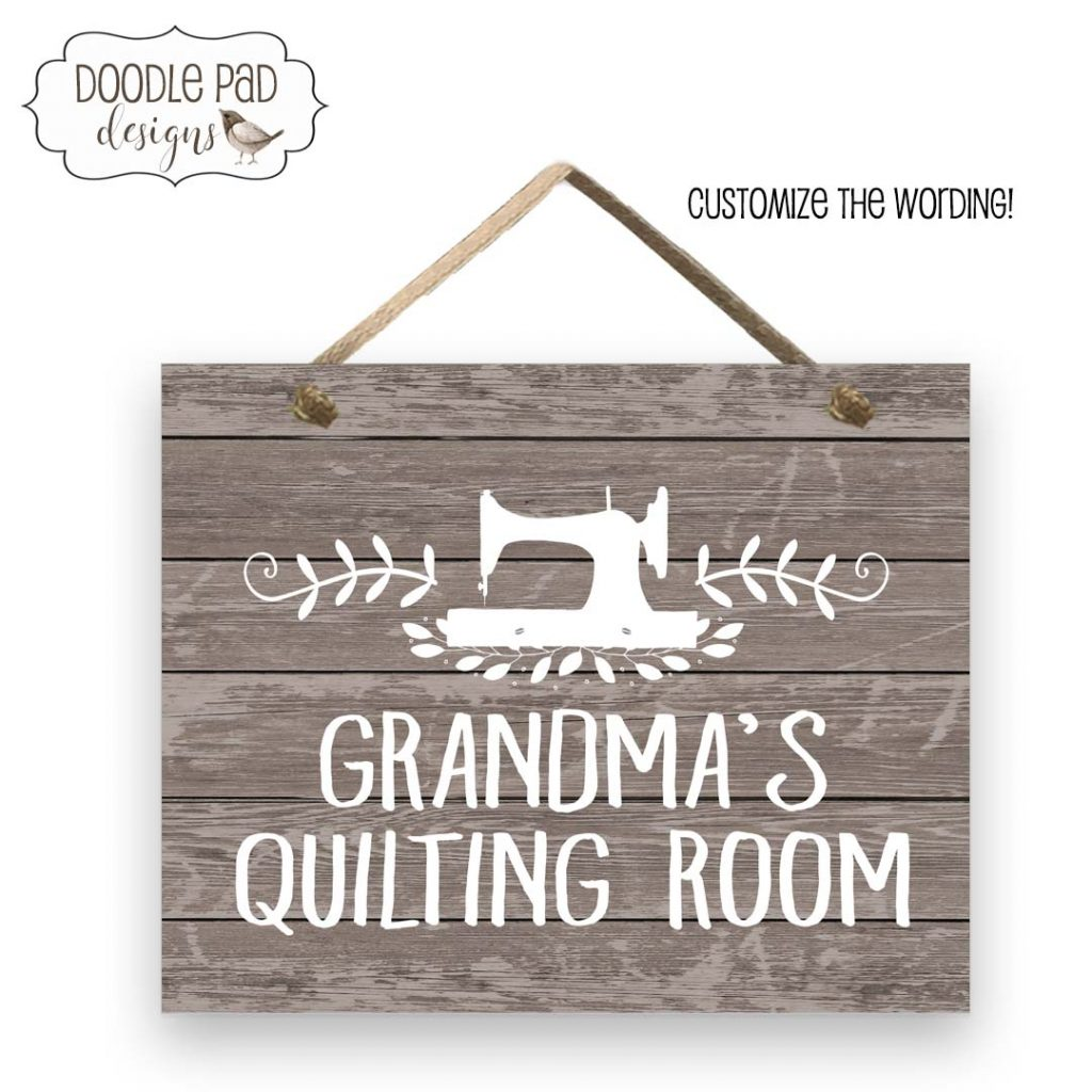 Quilting room sign