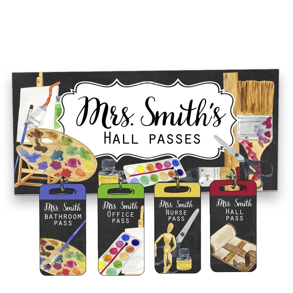 Art Class Hall Passes