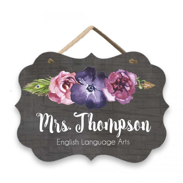 teacher boho sign
