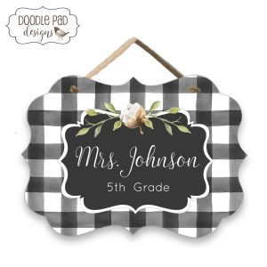 Buffalo Plaid Classroom Decor